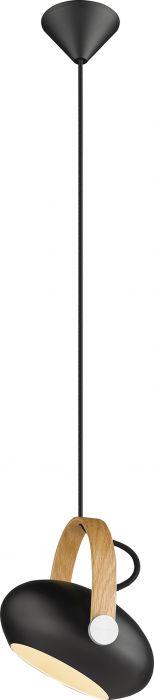 Riippuvalaisin Halotech D.C MUsta/tammi Ø18 cm