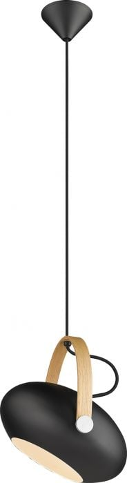 Riippuvalaisin Halotech D.C Musta/tammi Ø26 cm