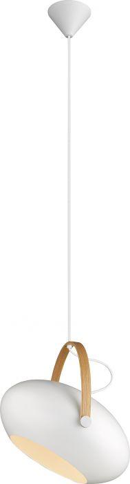Riippuvalaisin Halotech D.C Valkoinen/tammi Ø40 cm