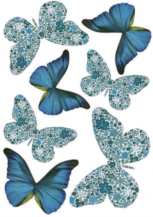Seinätarra Plage 3D Siniset Perhoset
