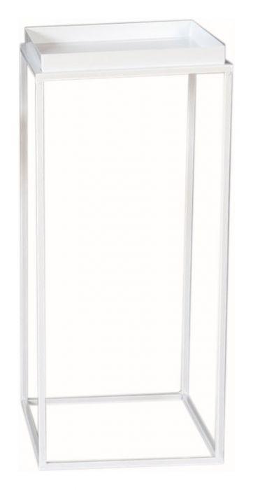Kukkapöytä valkoinen 27 x 27 x 62 cm