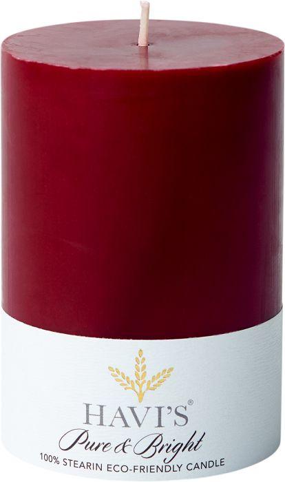 Pöytäkynttilä Havi's Pure&Bright 7 x 10 cm burgundi
