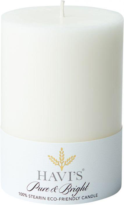 Pöytäkynttilä Havi's Pure&Bright 7 x 10 cm valkoinen