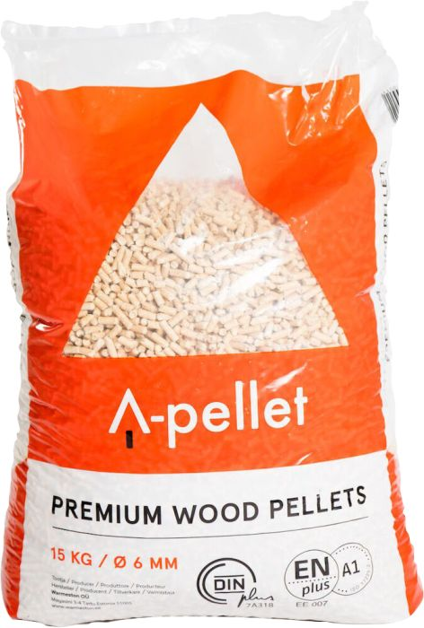 Puupelletti A-pellet Premium 6 mm 15 kg