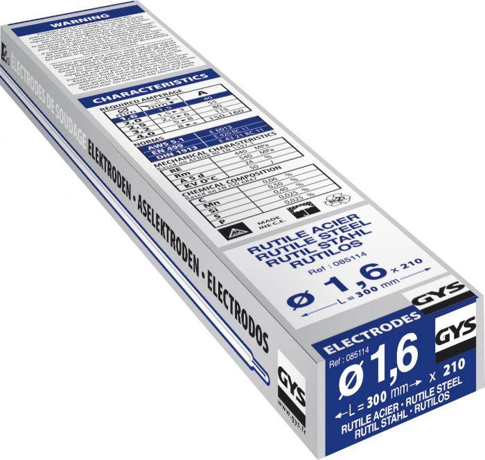 Rutiilipäällysteinen hitsauspuikko Gys 1,6 mm 210 kpl