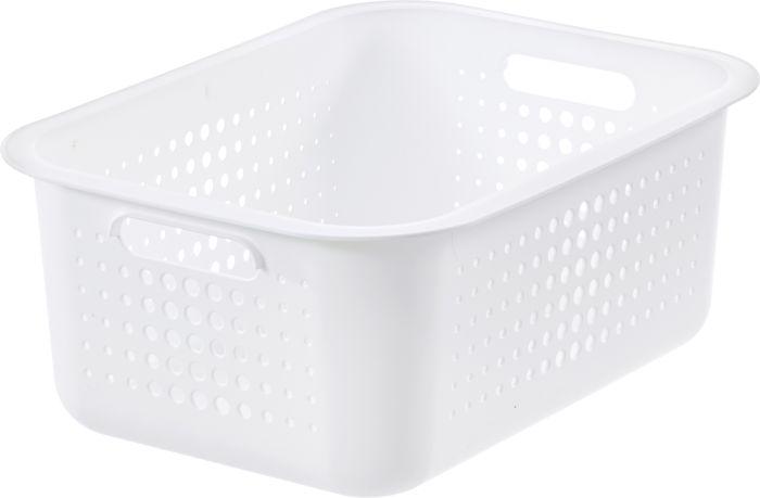 Säilytyskori SmartStore Basket Recycled 15 Valkoinen 37 x 28 x 15 cm