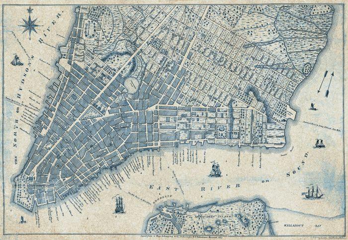 Fototapetti Old Vintage City Map New York 2 paneelia