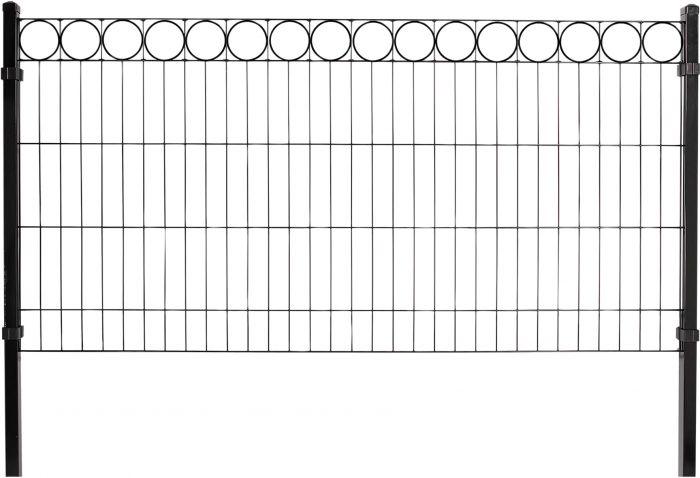 Aitapaneeli musta O-koriste 100 x 200 cm
