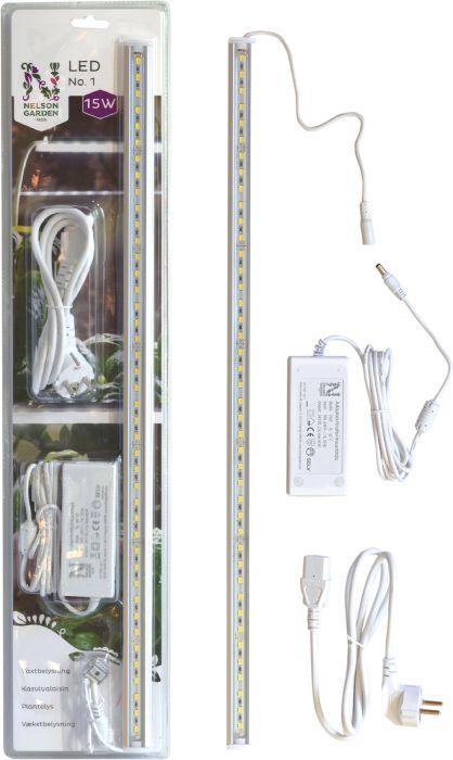 Kasvivalaisin Nelson Garden LED-lista 15W muuntajalla 60 cm