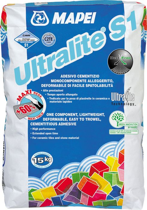 Kiinnityslaasti Mapei Ultralite S1 Harmaa 15 kg