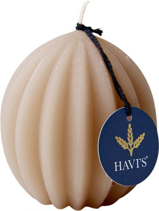 Vekkipallokynttilä Havi's 8,5 cm nude