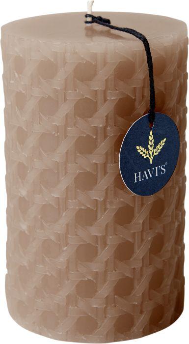 Pöytäkynttilä Havi's Rattan 8 x 12,5 cm nude