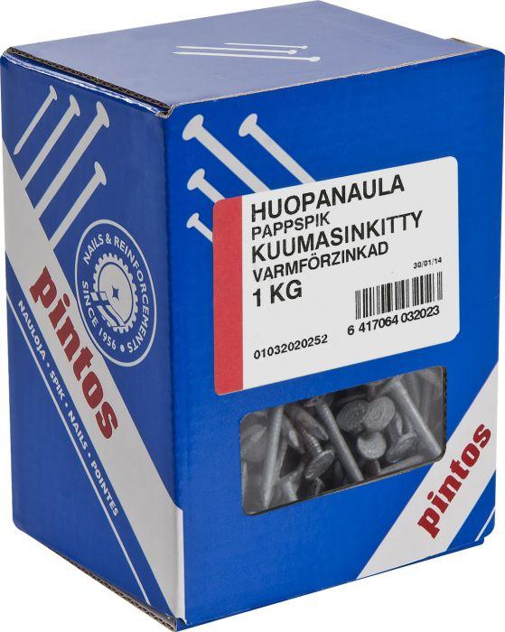 Huopanaula Pintos 25 x 2,8 mm Kuumasinkitty
