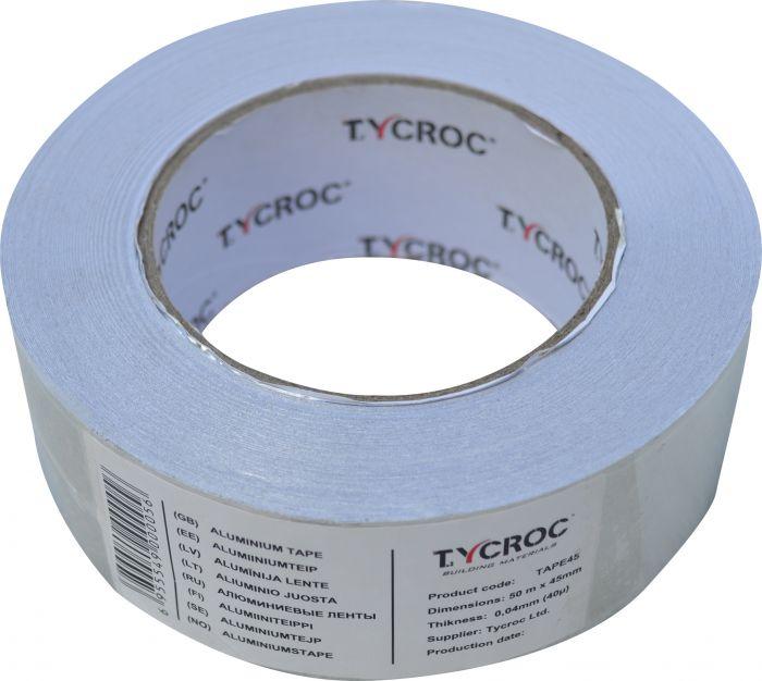 Alumiiniteippi Tycroc 50 m x 45 mm