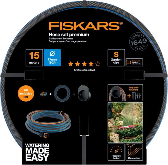 Kasteluletku setti Fiskars 13 mm 15 m Q4