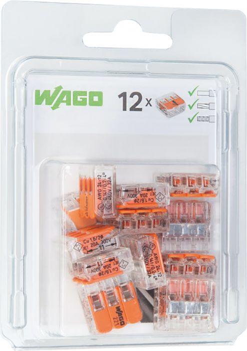 Rasialiitin Wago 221 3-napainen 12 kpl