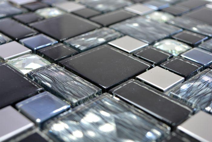Mosaiikki Crystal Steel Mix-musta-lasi