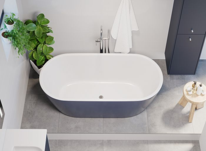 Kylpyamme Camargue Visby Valkoinen/sininen