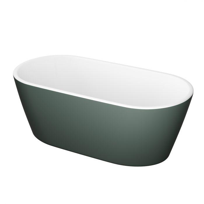 Kylpyamme Camargue Visby Valkoinen/vihreä