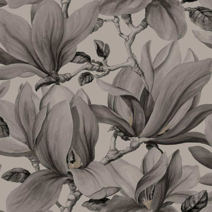 Kuitutapetti Belle Harmaa/tummat kukat
