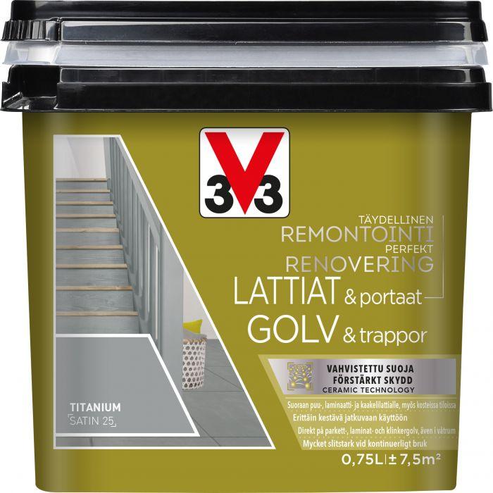 Lattia-/porrasmaali V33 Titanium