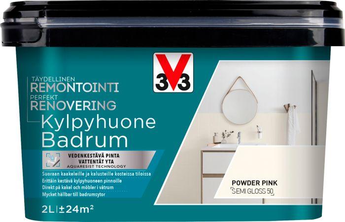 Kaakelimaali Seinille V33 Powder Pink
