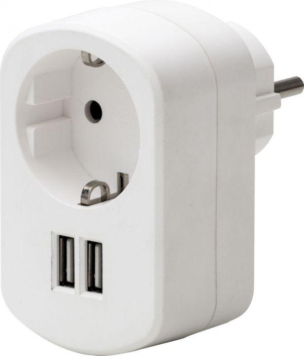 USB-adapteri Airam 2 x USB 3,4 A