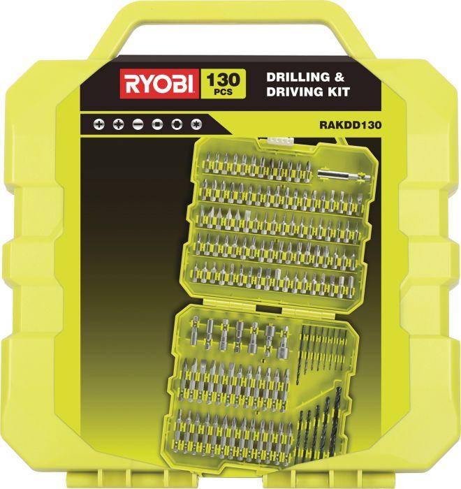 Tarvikesarja Ryobi RAKDD130 130-osainen