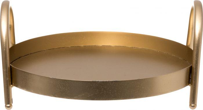 Metallitarjotin 25 cm kulta