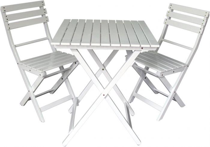 Parvekesetti Noora pöytä ja 2 tuolia