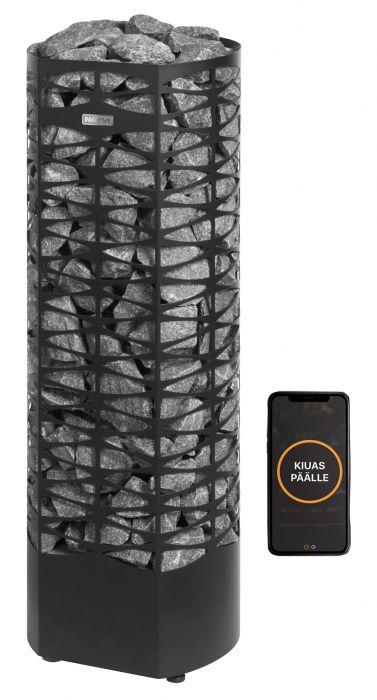 Sähkökiuas Narvi Saana Musta Wifi-ohjauspaketilla