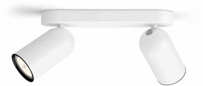 Spottivalaisin Philips Pongee 2-os Valkoinen
