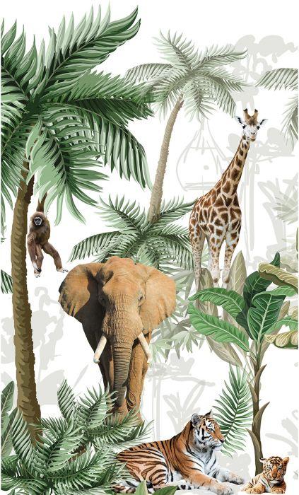 Fototapetti Plage Panoramic Children Jungle And True