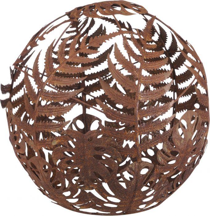 Puutarhakoriste pallo ruostepatina 25 cm
