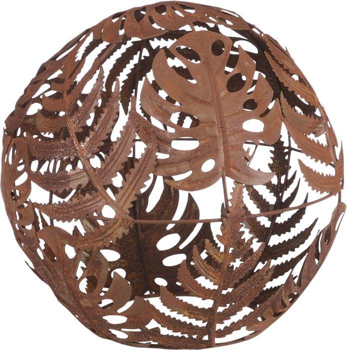 Puutarhakoriste pallo ruostepatina 21 cm