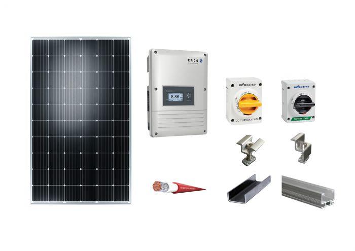 Aurinkopaneeli Kaco Tiilikuvioinen peltikatto 8.2kWp