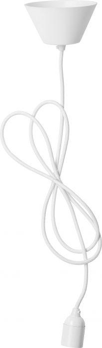 Tekstiilivalaisinjohto Airam Valkoinen 2,1 m E27