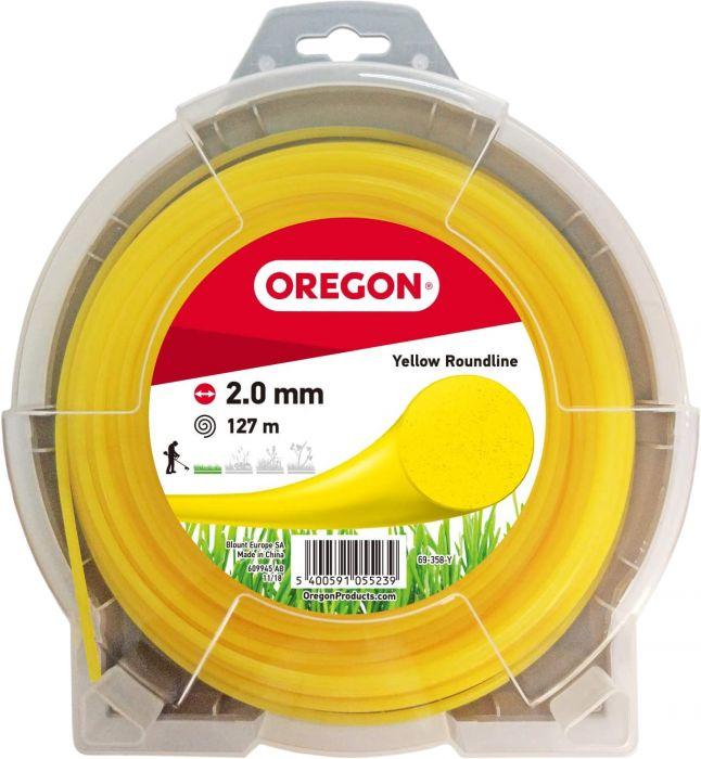 Trimmerilanka Oregon 2,0 mm x 127 m keltainen
