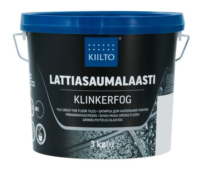 Lattiasaumalaasti Kiilto 3 kg 248 Hiilenharmaa