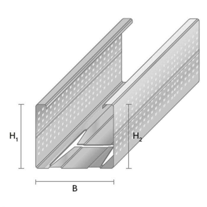 Seinäranka Profiline LRP-66/40 3 m