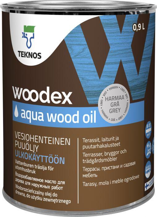 Puuöljy Teknos Woodex Aqua Wood Oil Harmaa