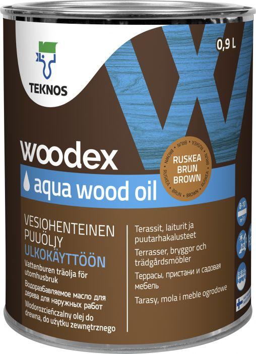 Puuöljy Teknos Woodex Aqua Wood Oil Ruskea