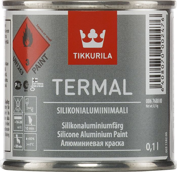Silikonialumiinimaali Tikkurila Termal