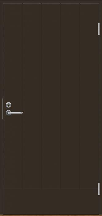 Ulko-ovi Swedoor B0010 Tummanruskea