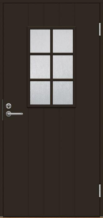 Ulko-ovi Swedoor B0015 Tummanruskea