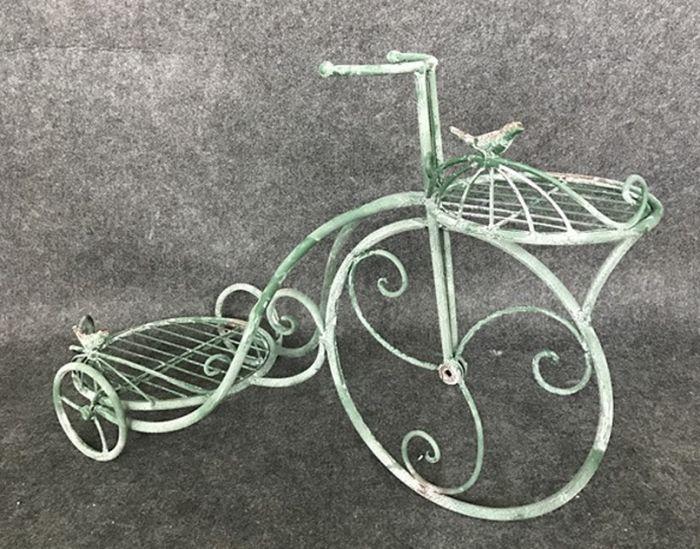 Kukkateline pyörä 63 x 26 cm vihreä
