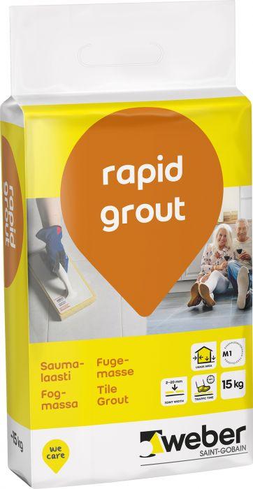 Saumalaasti Weber Rapid Grout 15 kg