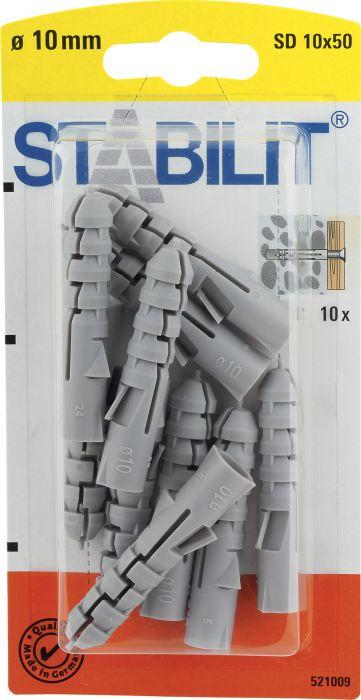 Välitulppa Stabilit 10 x 50 mm 10 kpl/pkt