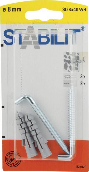 Koukkutulppa Stabilit 8 x 40 mm 2 kpl/pkt