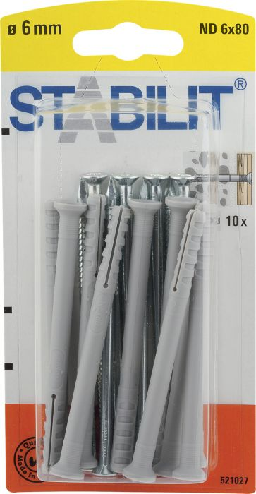 Yleistulppa Stabilit Metalli 8 x 60 mm 10 kpl/pkt